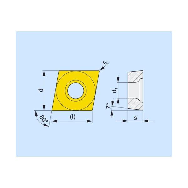 Dormer Pramet 6753714 Ccmt3252fm T9315 Carbide Turning Insert