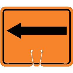 Safety Cone Sign Left Arrow Orange