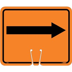 Safety Cone Sign Right Arrow Orange
