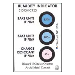 3 Spot Humidity Indicator Card 125/Can